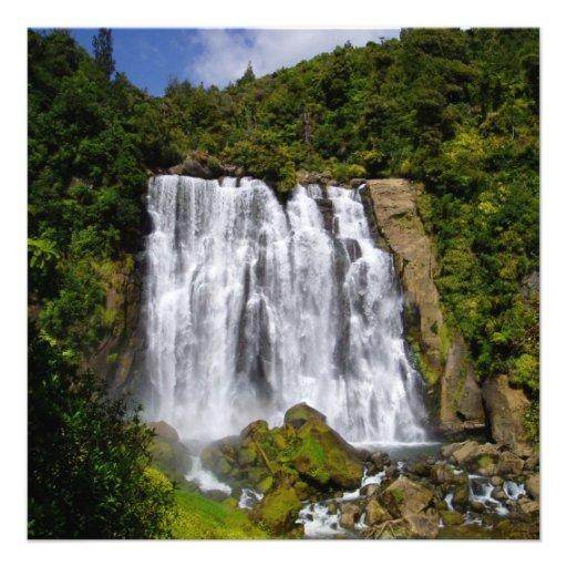New Zealand Waterfall Custom Invite