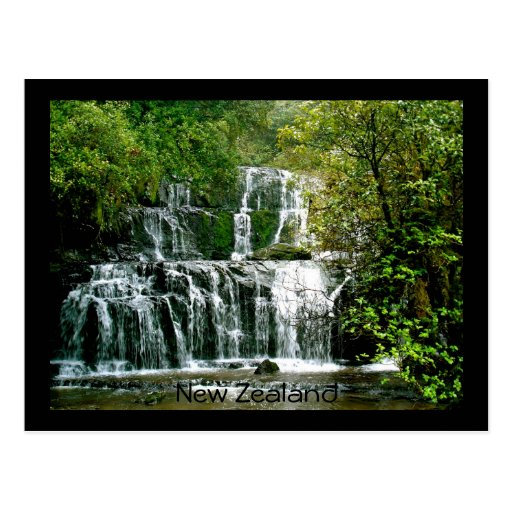 New Zealand Waterfall - Purakaunui Falls Postcards