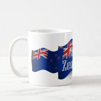 New Zealand Waving Flag Coffee Mug