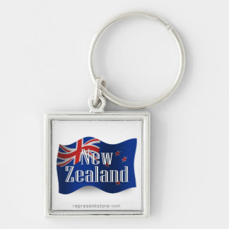 New Zealand Waving Flag Key Chain