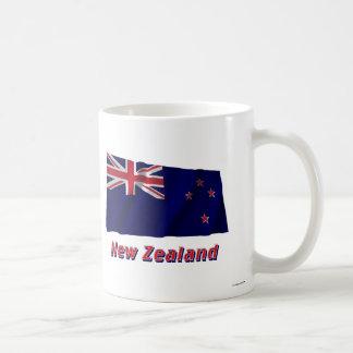 New Zealand Waving Flag with Name Basic White Mug