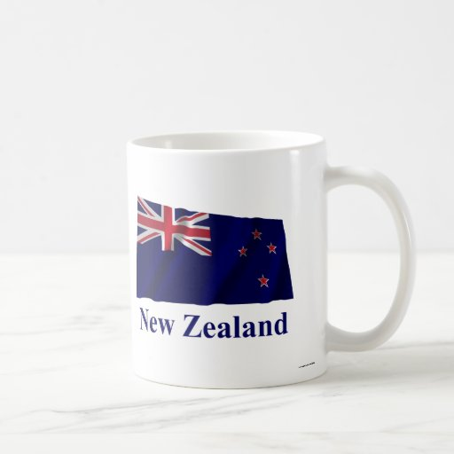 New Zealand Waving Flag with Name Coffee Mug