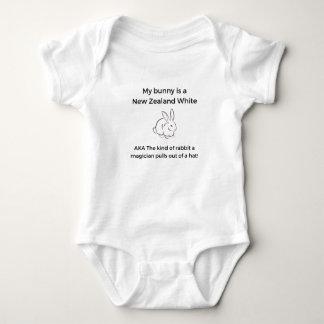 New Zealand White Rabbit Baby Bodysuit