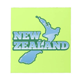 NEW ZEALAND with a map Notepads