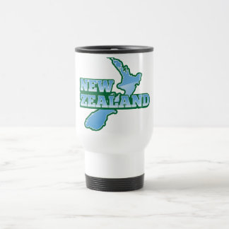 NEW ZEALAND with a map Travel Mug