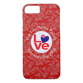 New Zealander LOVE White on Red iPhone 7 Case