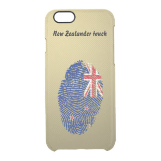 New Zealander touch fingerprint flag Clear iPhone 6/6S Case