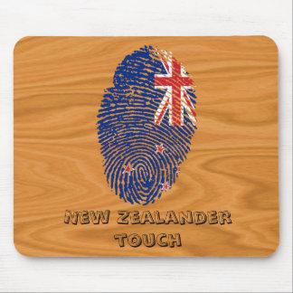 New Zealander touch fingerprint flag Mouse Mat