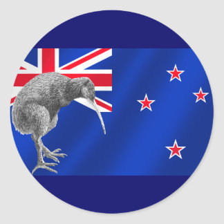 New Zealands Kiwis All Whites soccer gifts Classic Round Sticker