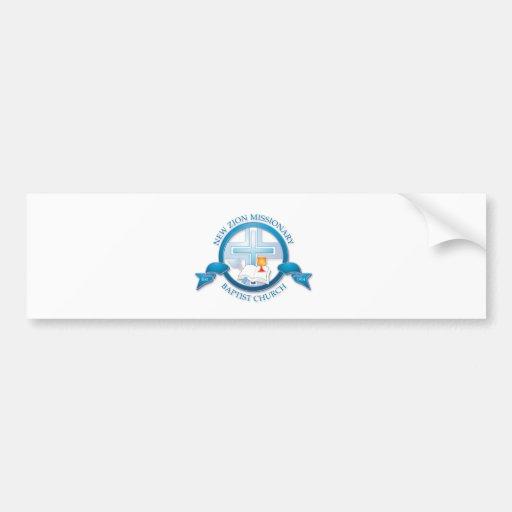 new zion missionary baptist church bumper stickers