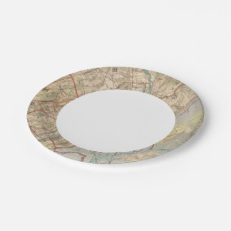Newark and Paterson, New Jersey Paper Plate