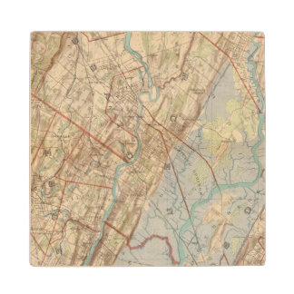 Newark and Paterson, New Jersey Wood Coaster