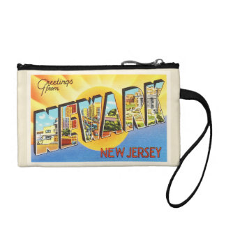 Newark New Jersey NJ Vintage Travel Postcard- Coin Purse