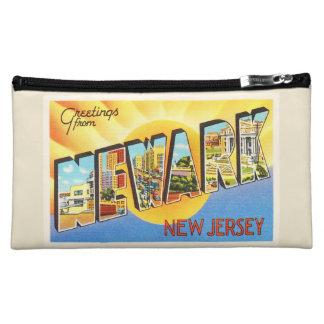 Newark New Jersey NJ Vintage Travel Postcard- Cosmetics Bags