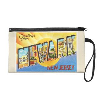 Newark New Jersey NJ Vintage Travel Postcard- Wristlet Clutches