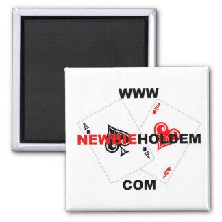 NewbieHoldem Logo Square Magnet