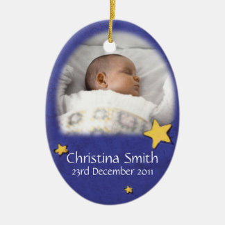 Newborn Angel Christmas ornament own photo