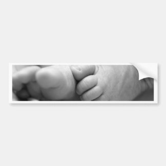 newborn babies feet bumper stickers