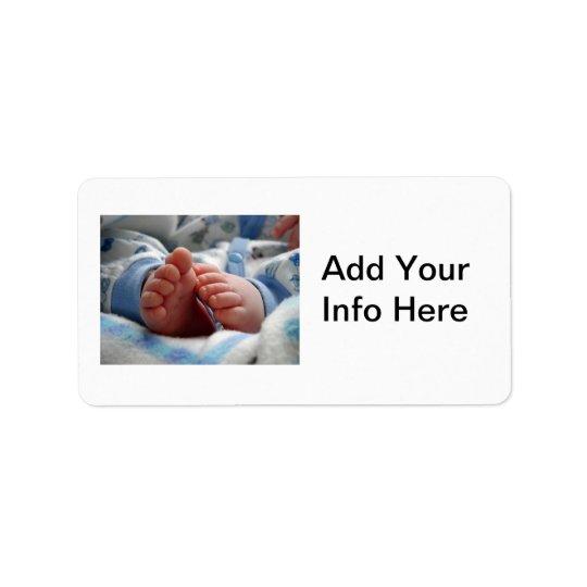 Newborn Baby Boy Address Label