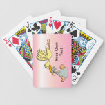 Newborn Baby Girl - A Flying Stork Delivery Bicycle Poker Deck