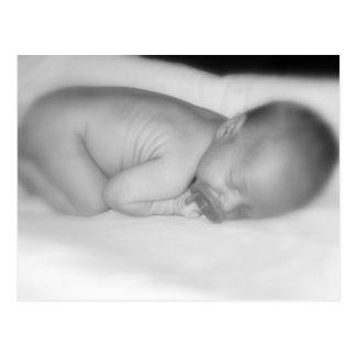 Newborn baby postcard
