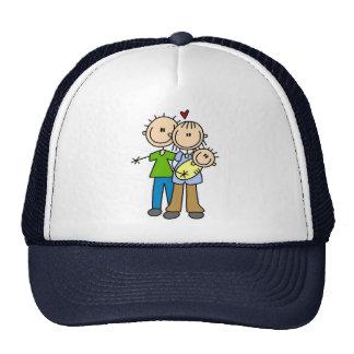 Newborn Baby Stick Figure Hat