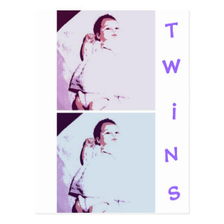 Newborn Baby Twins Postcard