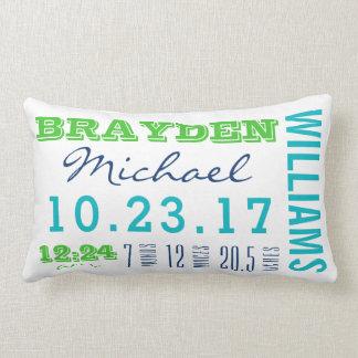 Newborn Birth Details Pillow | Baby Boy