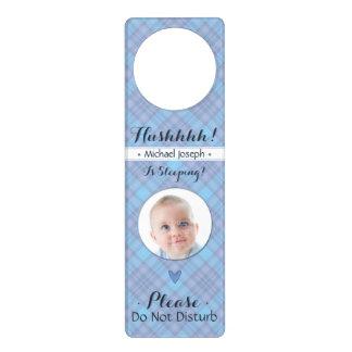 Newborn Boy Hush Do Not Disturb Sleeping Baby Door Knob Hangers