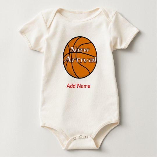 Newborn Clothes Custom American BAsketball Onsies Baby Bodysuit