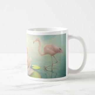 newborn fairy water lilly white light pink basic white mug