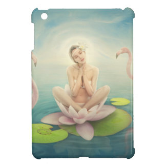 newborn fairy water lilly white light pink case for the iPad mini