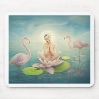 newborn fairy water lilly white light pink mousepads
