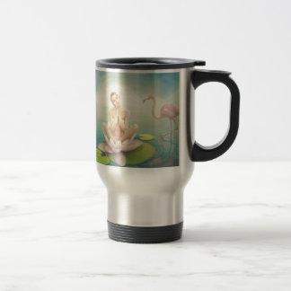 newborn fairy water lilly white light pink mug