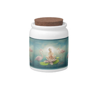 newborn fairy water lilly white light pink candy dish