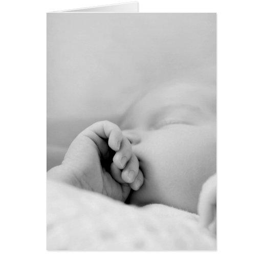 newborn fast asleep card