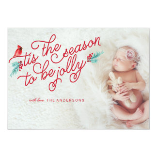 NEWBORN Jolly Christmas Season Card