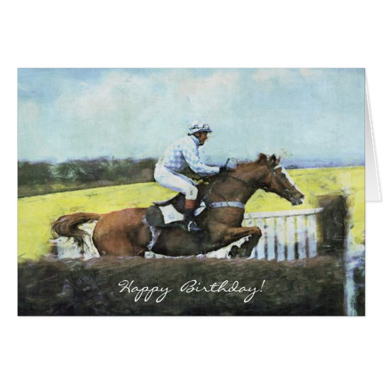 Newbury steeplechase birthday card