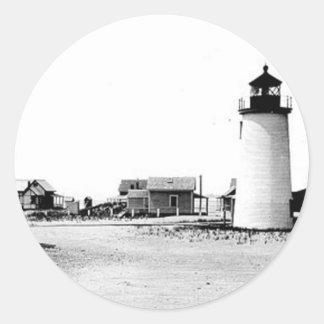 Newburyport Harbor Lighthouse Round Sticker