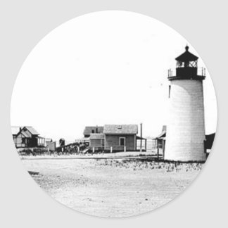 Newburyport Harbor Lighthouse Round Sticker
