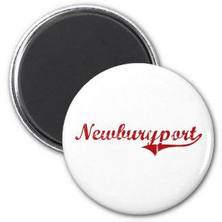 Newburyport Massachusetts Classic Design 6 Cm Round Magnet
