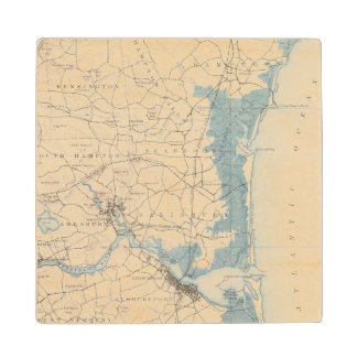 Newburyport, Massachusetts Wood Coaster