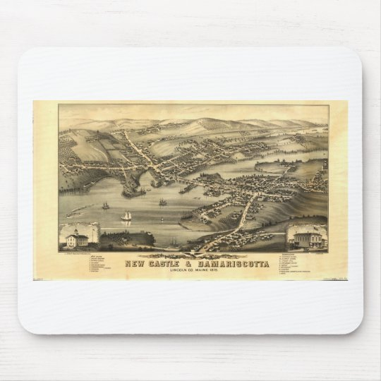 Newcastle & Damariscotta, Maine in 1878 Mouse Mat