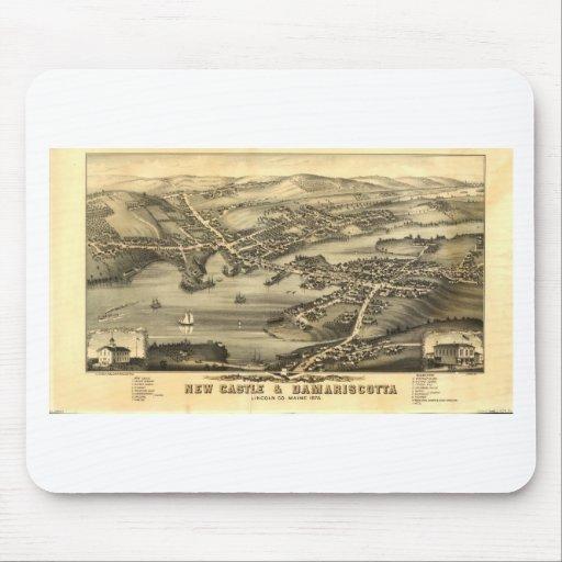 Newcastle & Damariscotta, Maine in 1878 Mouse Pad