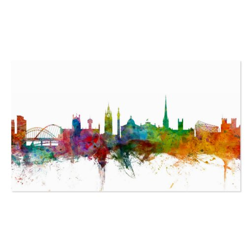 Newcastle England Skyline Business Cards