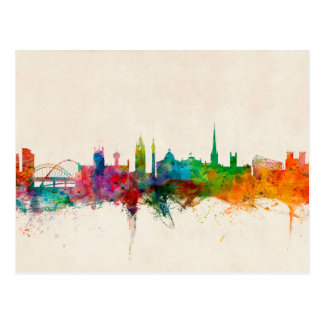 Newcastle England Skyline Postcard