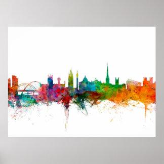Newcastle England Skyline Posters