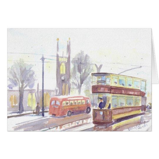 Newcastle H class tram Christmas card