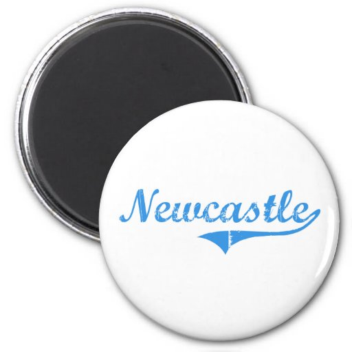 Newcastle Maine Classic Design Magnet