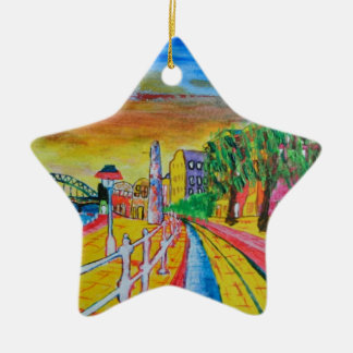 Newcastle quayside christmas ornament